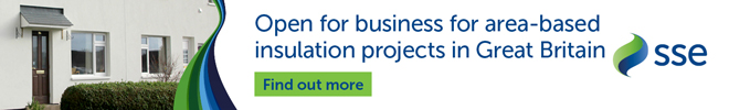 SSE ENERGY SOLUTIONS - OPEN FOR BUSINESS FOR AREA-BASED INSULATION PROJECTS IN GREAT BRITAIN. CLICK HERE TO FIND OUT MORE